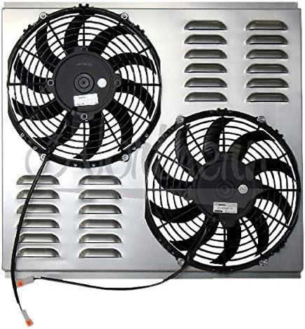 Northern Radiator Z40091 Dual 10in Standard Electric Fan /& Shroud