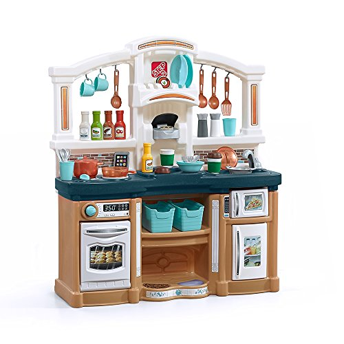 Step2 488499 Fun with Friends Kids Play Kitchen, Tan/Blue