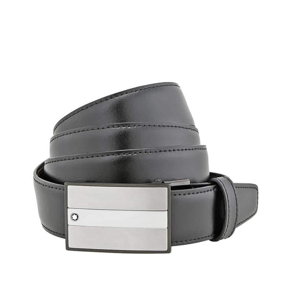 Amazon.com: Montblanc 114385 Cinturón de piel para hombre ...