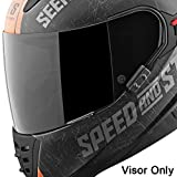 Speed and Strength Replacement Faceshield SS1600 Street Racing Motorcycle Helmet Accessories - Tinted / One Size