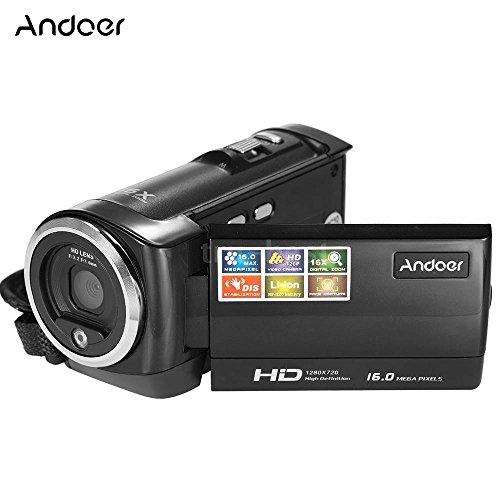 Andoer HD LCD 16MP 720P 16xDigital Zoom Anti-Shake Digital Video Camera