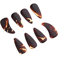 simhoa 8pcs Gu Zheng Nails Finger Picks for Zither Players Practice Performance - Small