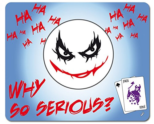 1art1 Emoticons Mouse Pad - Emoji, Joker, Why So Serious (9 x 7 inches)