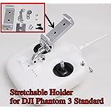 Phantom 3 Standard Remote Controller 10cm Stretchable Extended Phone Holder Bracket for DJI Phantom 3 Standard Quadcopter