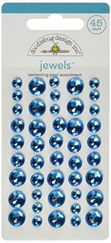 Doodlebug Adhesive Jewels 45/Pkg-Swimming Pool