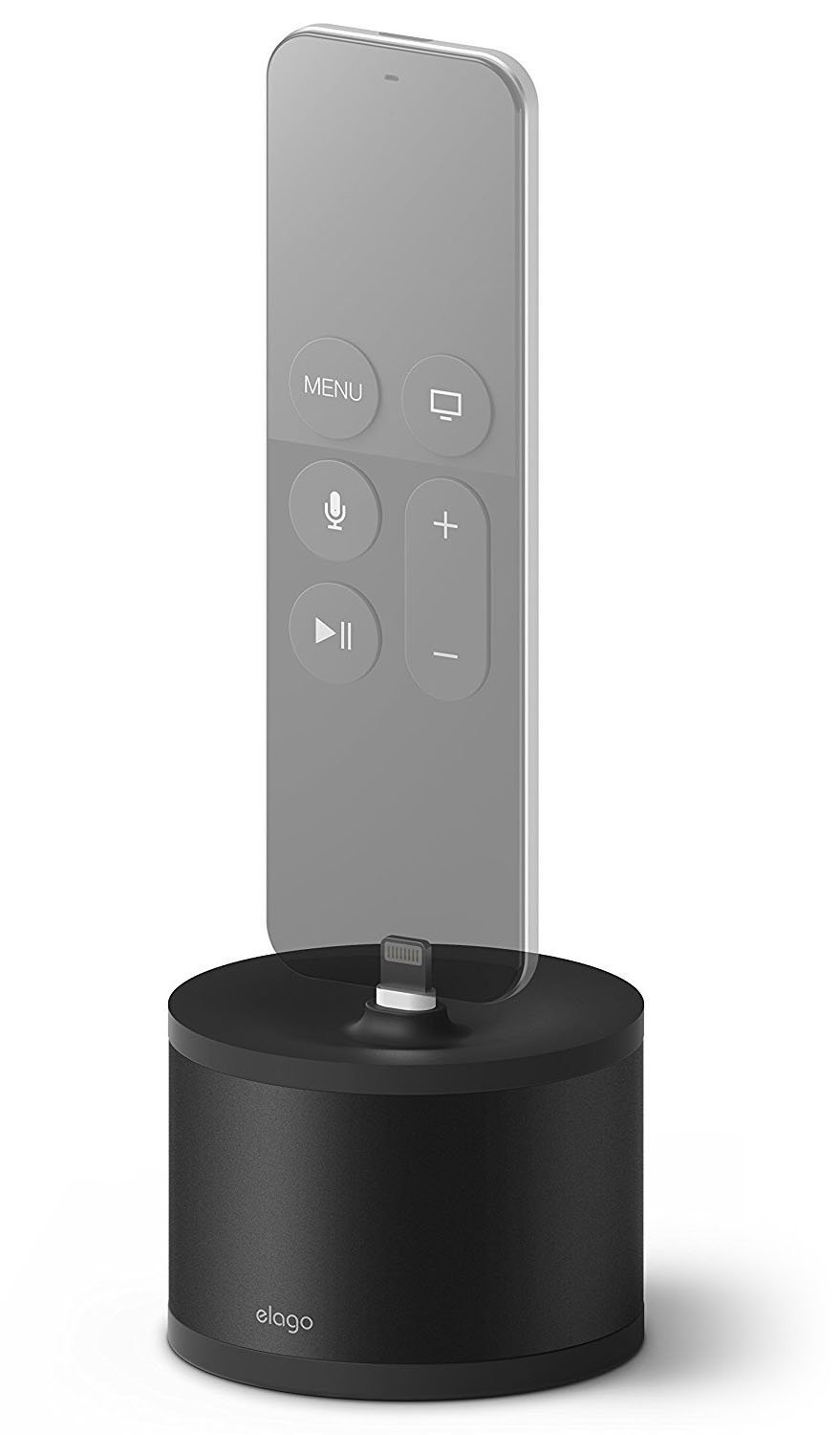 elago D Stand Charging Station [Black] - [Premium Aluminum][Cable Management][Scratch-Free] - for Apple TV remote, iPhone, iPad Mini, Wireless Keyboard, and Magic Mouse