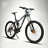 Mountain Bike Ciclismo 24 speed 26 pulgadas/700cc 60 mm Hombre/Unisex Adultos EF51 – 8 Double Disc freno Suspensión Fork Full Suspension