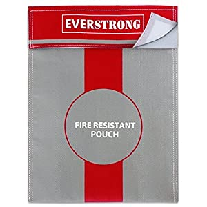 Fire Safe Box Accessory | 15x11 Inch Non-Itchy Fireproof Bag for Money, Passport, Jewelry and Important Documents in Fireproof Safe, Fireproof Box, or Fireproof Safe | Fire Proof Case