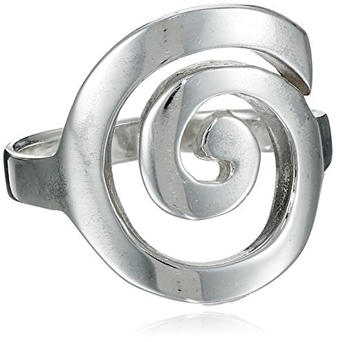 MIMI Sterling Silver Large Open Celtic Swirl Ring (6.5)