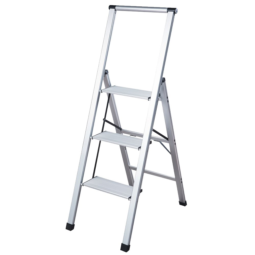 core studio sl3hlight slimline 3 step ladder step stools amazoncom - Kitchen Step Ladder