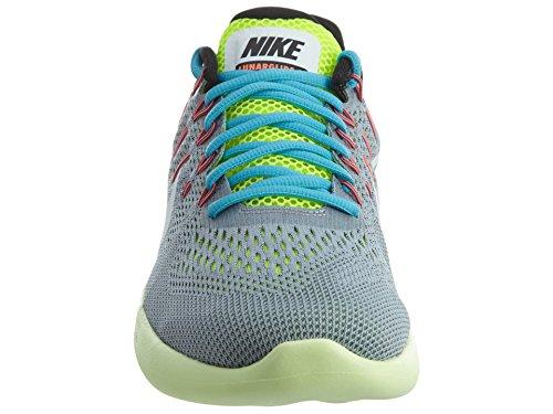 Nike Lunarglide 8, Zapatillas de Running para Hombre Wolf Grey/White/Volt/Gamma Blue