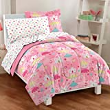 dream FACTORY Pretty Princess Ultra Soft Microfiber Girls Comforter Set, Pink, Full