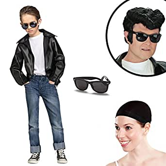 Rock N' Roll Boys Greaser Costume Kit S