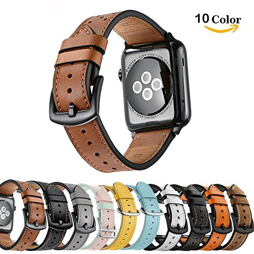 Chok Idea Leather Watchband For Apple Watch Strap 42mm 44mm,Genuine Leather...