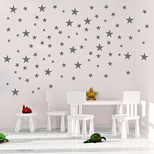 DCTOP Stars Wall Decals  Wall Stickers Removable Home Decora