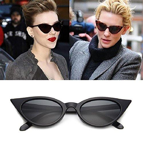 de gato Vintage ojo mujeres gafas Gafas espejo de de diseñador de technolog qbling Brillante Moda Nueva las Grande sol Negro 2018 para Cateye Gafas marca 6nH8Px4