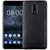 Nokia 6 Silk Carbon Fibre TPU Phone Case Cover - Black.