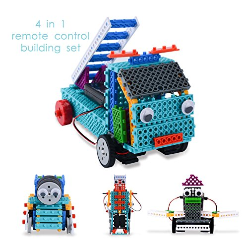 Remote Control Robot Kit For Kids – 170pcs Building Kit Build Your Own Remote Control Car Robot Toy – Robotic Kit & Construction Toy