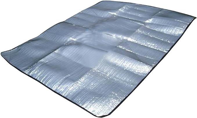 ALU Matelas isolant avec revêtement en aluminium Camping ALU De Coffre Tapis Thermique 200x50x1 cm