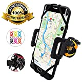 TruActive - Premium Edition! - Bike Phone Mount Cell Phone Holder for Bike - Universal Fit, Motorcycle Phone Mount and Bike Phone Holder - 6 Color Bands - Any Phone or Handlebar - Tool Free Install!: more info