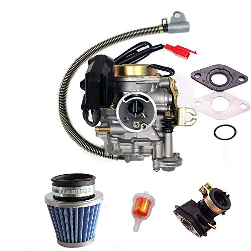 NEW 50CC CARBURETOR Performance Adjustable CARBURETOR with electric choke for 50cc 80cc GY6 Engines (High Performance Parts For Gy6 50cc Scooters)
