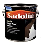 5ltr Sadolin Superdec Satin Black Opaque Wood