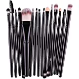 Voberry® 15 Pcs Pro Makeup Set Powder Foundation Eyeshadow Eyeliner Lip Cosmetic Brushes