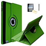iPad 9.7 2018/2017 Case, JYtrend Rotating Stand Smart Magnetic Auto Wake Up/Sleep Cover For iPad 5th/6th Gen A1893 A1954 A1822 A1823 MP2G2LL/A MP2J2LL/A MPGT2LL/A MPGW2LL/A MRJN2LL/A MRJP2LL/A(Green)