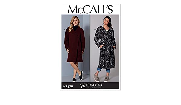 Amazon.com: MCCALLS M7479 (SIZE 16-26) Misses Wrap Coats and Belt SEWING PATTERN: Kitchen & Dining