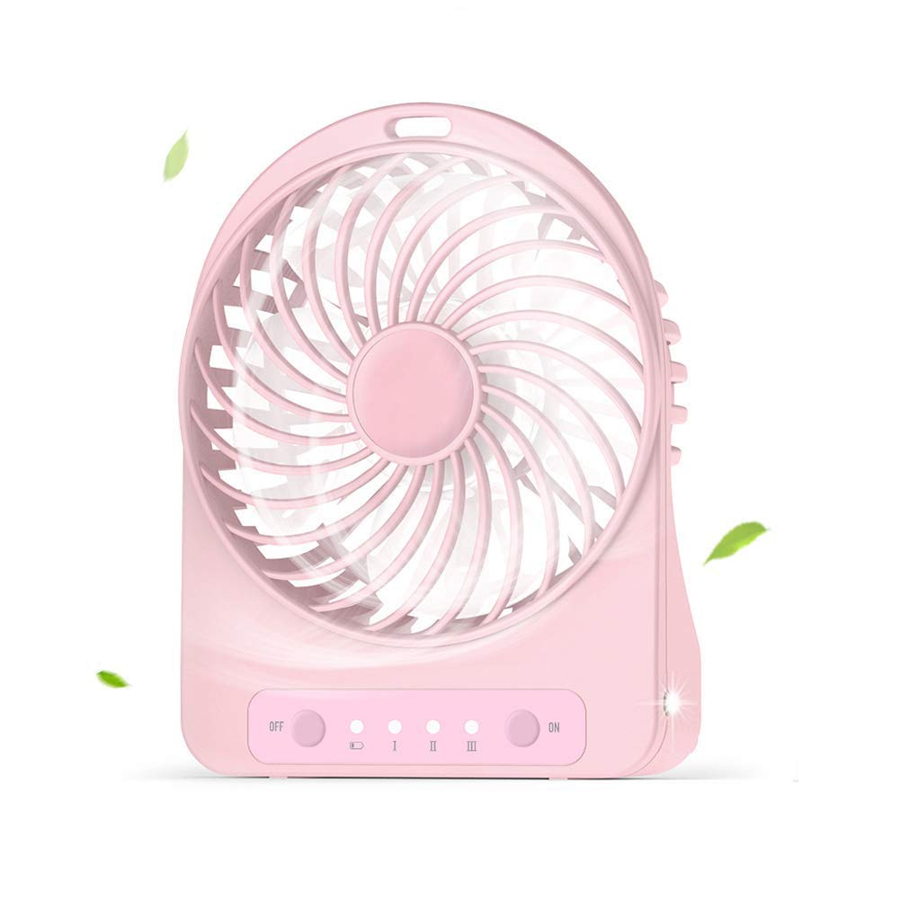 Mini Fan USB Desktop Fan Rechargeable Table Desk Fan Cooling Portable Fan Small with 3 Speed Wind, for Home, Office, Outdoor by Fan-wyx