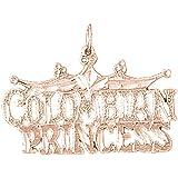 14K Rose Gold Colombian Princess Pendant Necklace - 22 mm