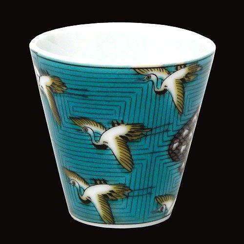 KUTANI YAKI(ware) Sake Cup Crane