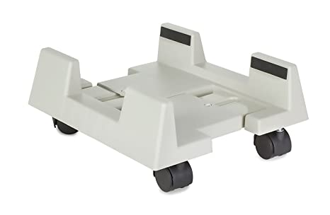 Mount-It! CPU Stand, Adjustable Width Universal PC Computer Holder Cart  with 4 Caster Wheels