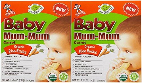 Mum Mum Rice Biscuits - Organic Carrot - 1.76 Oz - 2 Pk