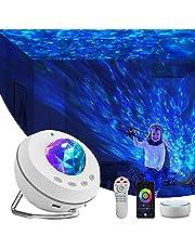 Led-sterrenhemel projector, nachtlampprojector 4-in-1 Galaxy-projector, 85 graden draaibaar, bluetooth met bluetooth-muziek, luidspreker, telefoonapp, afstandsbediening voor baby/kinderladder/speelkamer/thuisbioscoop