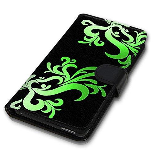 Wallet Book Style Flip Handy Tasche Case Schutz Hülle Schale Motiv Etui für Apple iPhone 4 / 4S - Design Flip MVD275