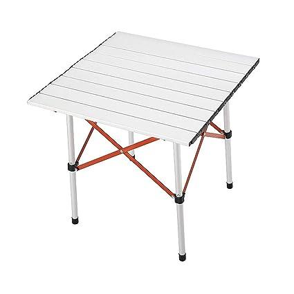 GAOYANG Mesa De Camping Plegable Al Aire Libre Aleación De Aluminio Portátil Compacto Ultra Light Roll