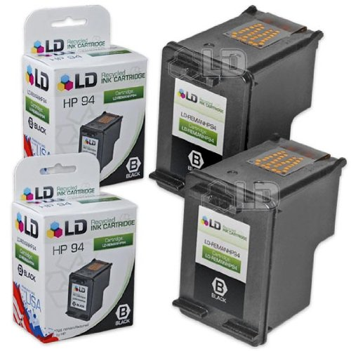 LD Remanufactured Replacement Ink Cartridge for Hewlett Packard C8765WN (HP 94) Black (2 pack) -