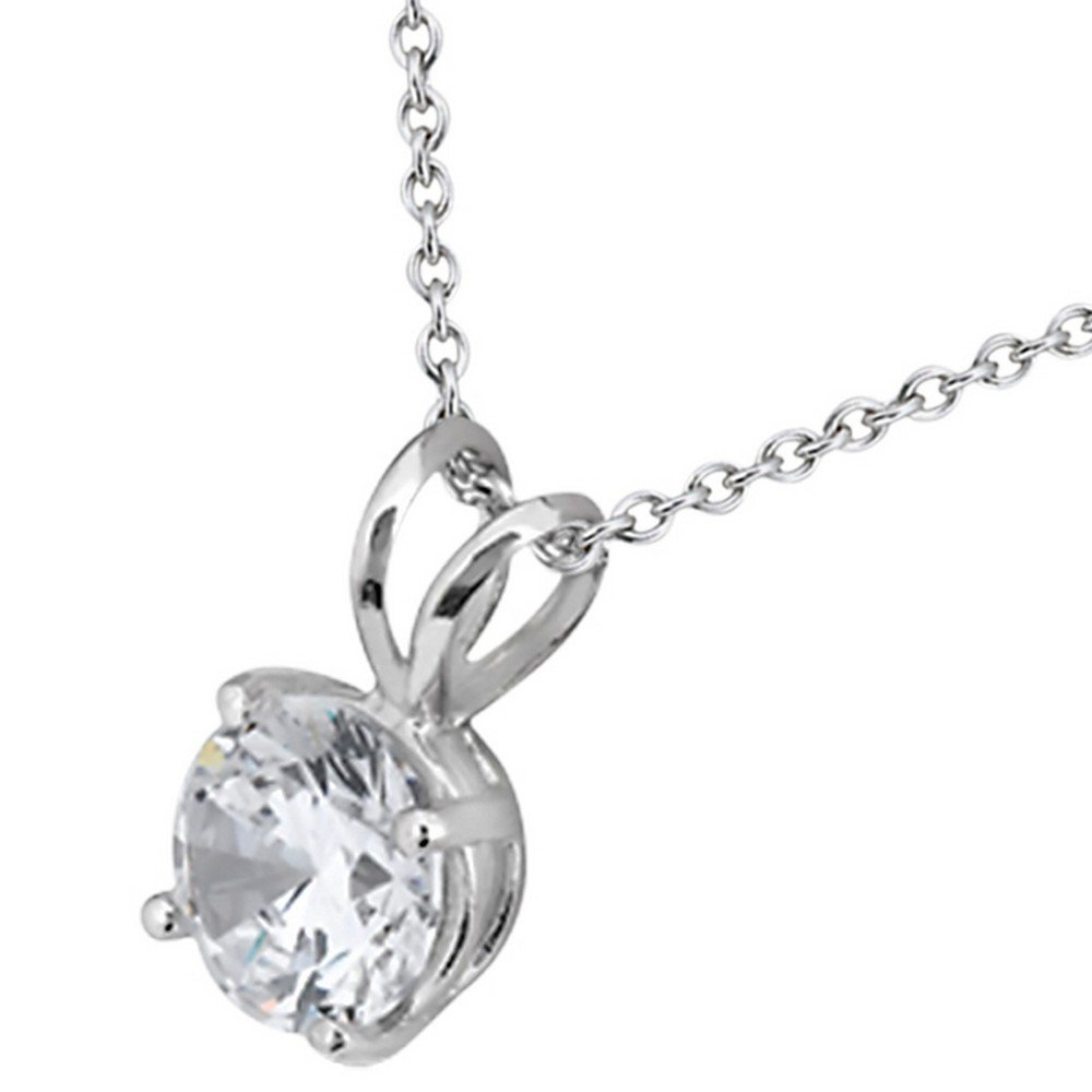 1.00ct. Round Diamond Solitaire Pendant in Platinum H, VS2