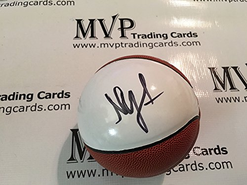 PSA/DNA Authentic Nick Young Autograph White Panel Mini Spalding Basketball