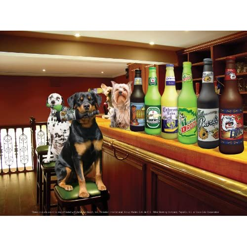 well-wreapped Silly Squeakers Beer Bottle Dog Toy