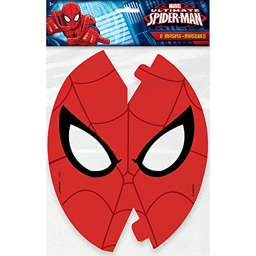 Spiderman Party Mask Set of 8