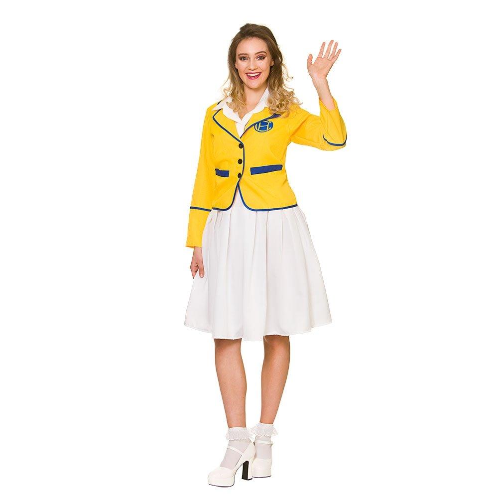 Hi De Hi Maplins Yellow Coat Costume for Ladies - Sizes 10 to 24