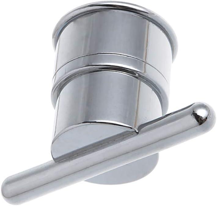 VIccoo Poign/ée Simple de Bouton de Porte de Douche de Trou en Plastique /électrolytique en Plastique pour la Cabine de Douche de Meubles int/érieurs