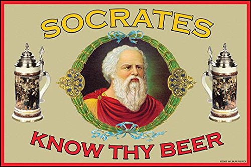 Buyenlarge Know Thy Beer - Socrates - Gallery Wrapped 28