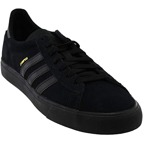low priced fd526 33dd0 adidas Skateboarding Mens Campus Vulc II Core BlackCore BlackCore Black  5 D