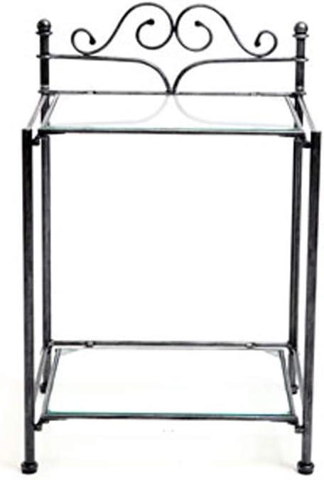 Table de chevet baroque noire métal victoria Vente de