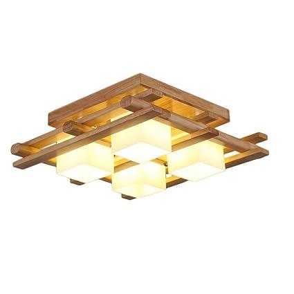 Lámpara de techo Estilo nórdico Madera Color Grande Sala ...
