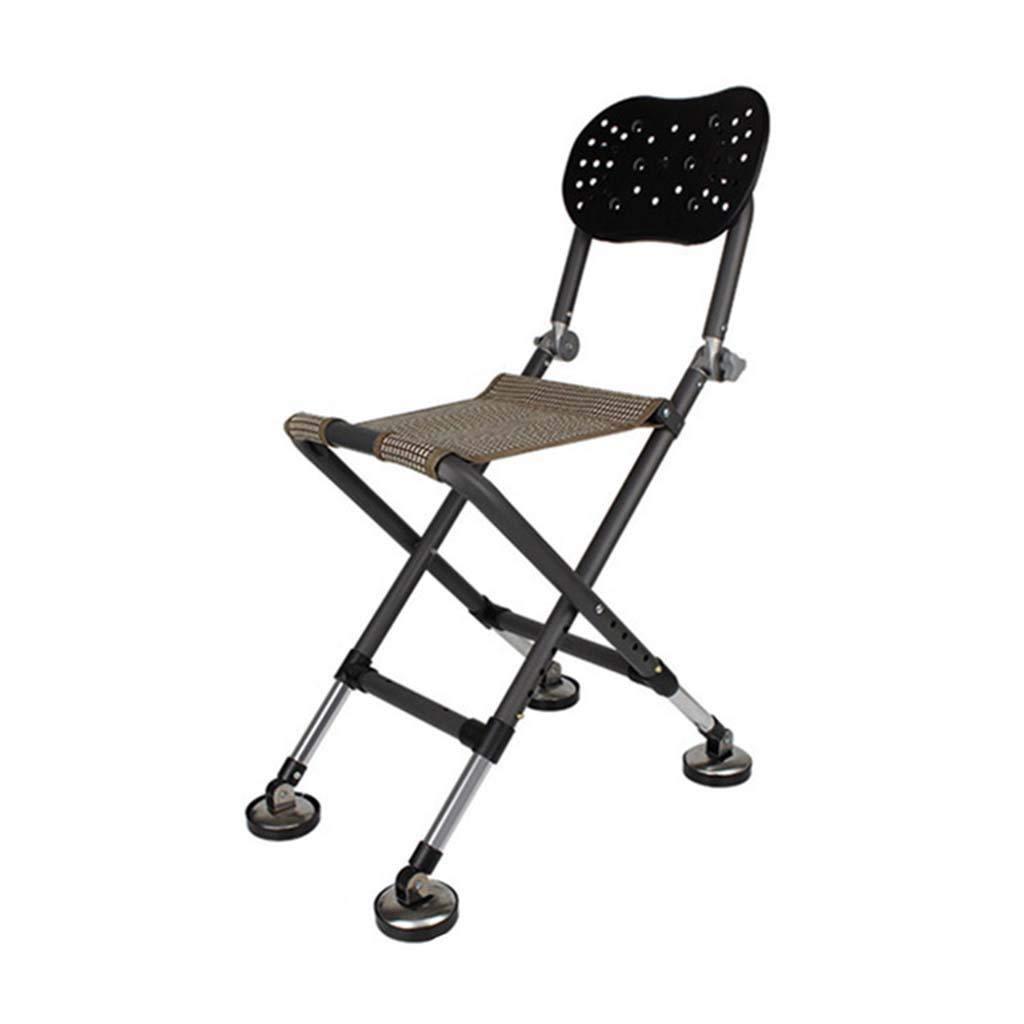 KKCD Chaise Camping Chaise Pliante portative de pêche de Chaise de pêche portative multifonctionnelle portative de pêche de Chaise, Chaise de pêche d'acier Inoxydable