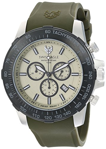 Swiss Eagle Men's SE-9065-09 Herzog Analog Display Swiss Quartz Green Watch